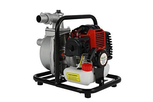 Pompe à eau thermique 2 temps 52 cm3 SILEX® - motopompe - moteur euro 5 - 3 CV - (250 litres par minutes) - Jardin Bassin Irrigation tuyau diamètre 38 int