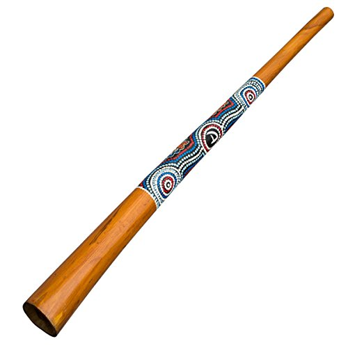 Australian Treasures - DIDGERIDOO HOLZ: Didgeridoo 130cm mit dotpainting bemalt. Didgeridoo für Anfänger
