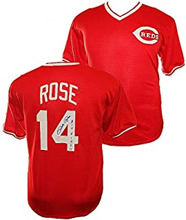 Pete Rose Autographed Signed Cincinnati Reds Custom Red Jersey - Hit King Inscription - PSA/DNA Certified Authentic