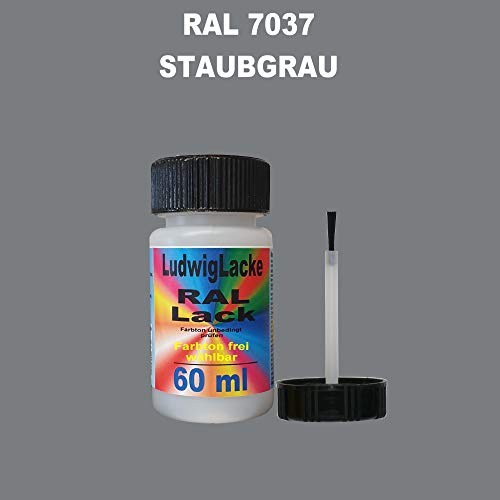 60 ml Lackstift mit Pinsel im Farbton RAL 7037 Staubgrau