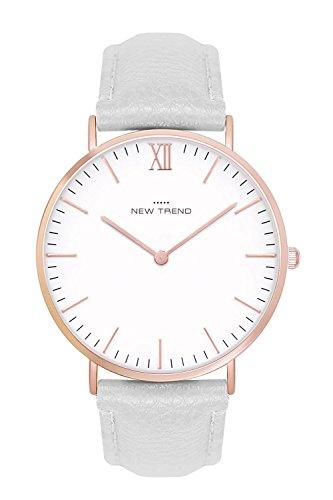New Trend - Love for Accessories Damen Uhr analog Quarzwerk mit Kunst-Leder-Armband 95-E251-MO9C