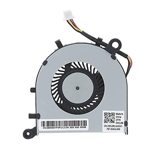 Wenyounge Ventilador de refrigeración de CPU de Repuesto para Ordenador portátil para DELL XPS13 9343 9350 9360 Ventilador de refrigeración DFS150505000T FFH0 0XHT5V XHT5V Enfriador