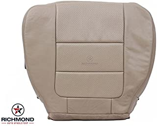 Richmond Auto Upholstery - Driver Side Bottom Replacement Leather Seat Cover, Tan (Compatible with 2001-2003 Ford F-250 F250 Lariat Ext Cab Super Cab)