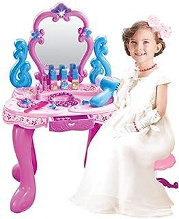 مجموعة طاولة وادوات التجميل للفتيات مع الكثير من الاكسسوارات من العاب التسلية والتظاهر للبنات