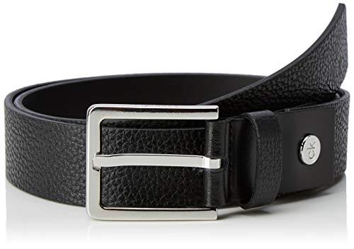 Calvin Klein 3.5cm Adj.Embossed Belt Cintura, Nero (Black 001), 7 (Taglia Produttore: 95) Uomo