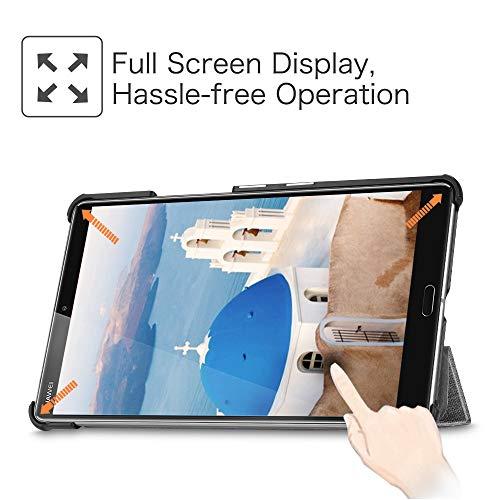 """Fintie Hülle Case für Huawei Mediapad M5 8 Tablet - Ultra Dünn Superleicht SlimShell Ständer Case Cover Schutzhülle Auto Sleep/Wake Funktion für 8,4"""" Huawei MediaPad M5 21,34 cm, Jeansoptik dunkelgrau - 3"""
