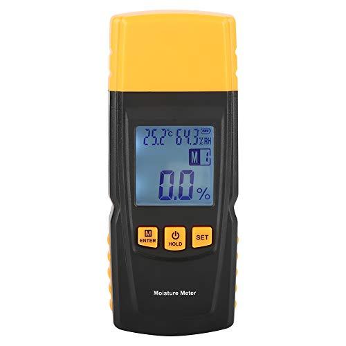 Igrometro Digitale, Akozon GM610 Tester Misuratore Rilevatore Umidità per Legno Digital LCD a 2 Pin Detector Intervallo 2{e13aea8a5b9d583f9e8f3b0983c24dd0e1ae66f7f0aea8cbd583506fac86d7a3} ~ 70{e13aea8a5b9d583f9e8f3b0983c24dd0e1ae66f7f0aea8cbd583506fac86d7a3} RH Precisione 1{e13aea8a5b9d583f9e8f3b0983c24dd0e1ae66f7f0aea8cbd583506fac86d7a3} Igrometro per Cereali, Legno, Cartongesso, Tappeti