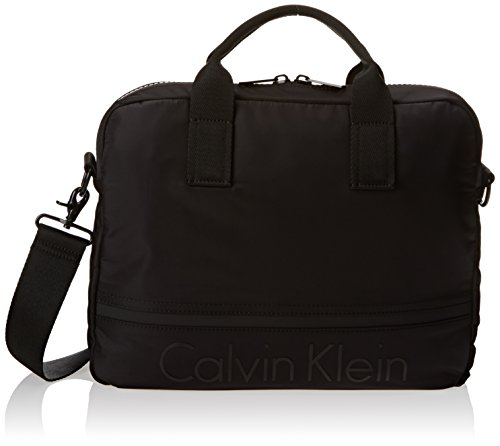 Calvin Klein - Matthew Laptop Bag, Bolsos maletín Hombre, Negro (Black), 7.5x28x37 cm (B x H x T)