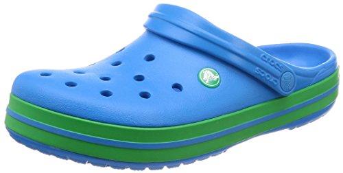 Crocs Damen Crocband U' Clogs, Blau (Ocean/Grass Green 4bp), 39/40 EU