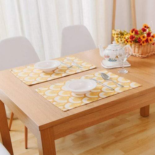 WZhen Coton Simple Set De Table Tissu Isolant Occidental Pad Bol Rectangulaire Mat Nourriture Shot Fond Tissu-Multi-A