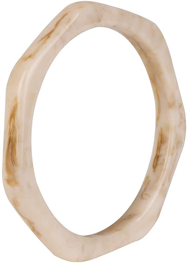 COLORFUL BLING Acrylic Tortoise Shell Acetate Mottled Cuff Bangle Resin Polygon Geometric Wrap Bracelet Wristband Jewelry for Women Girls