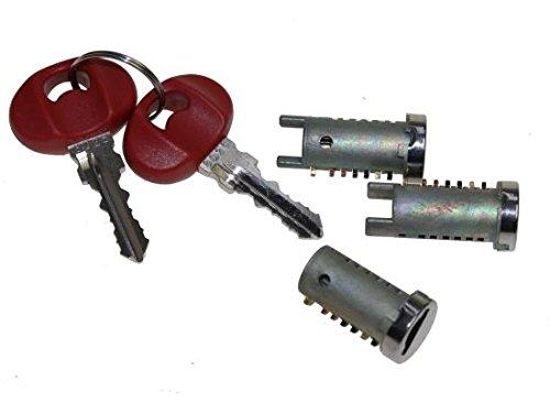Roller contactslot, contactslot (cilinderslot) 3-delig voor Piaggio Zip Bimodale Zip Fast Rider RST SP
