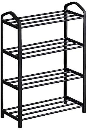 PALAKLOT Shoe Storage Rack Space Saving Shoe Standing Tower Cabinet Black...