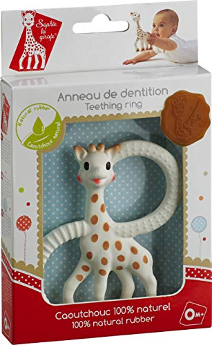 Vulli 200328 Teething Ring, Rubber 100% Natural, Fresh Touch