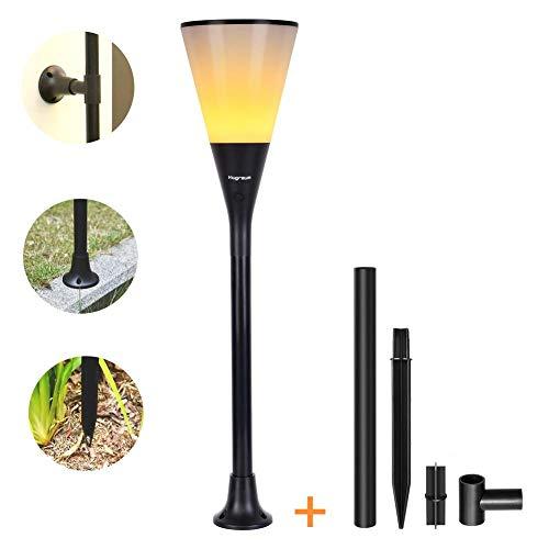 LED Flamme Vacillante Lumière,Lumière Solaire De Torche, Lumière De Flamme De Scintillement De 96 LED Allume Les Allées De Jardin/cour Extérieure,Imperméable IP65,