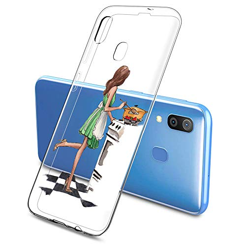 Suhctup Kompatibel mit Samsung Galaxy J120 / J1 2016 Hülle - Silikon Transparent Weiche Durchsichtig Dünn Handyhülle, Slim Stoßfest Soft TPU Back Cover Handytasche [ Mädchen Serie ]