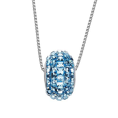 ZHHAOXINJE Minimalist Frauen Anhänger Halskette, Lucky Transfer Perlenkette Mit Swarovski Elements Schmuck, Geschenkbox, Symbol Für Glück Und Erneuerung für Männer Damen, B