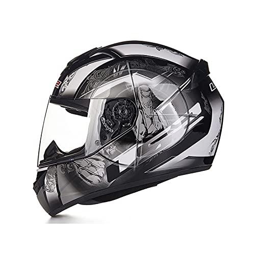 Casco de motocicleta modular Casco de motocicleta de cara completa con visores...