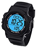 Atomic English Talking Watch for Seniors Men and Women Talking with Day-Date Loud Alarm Clock Visually Impaired by Five Senses (Black)