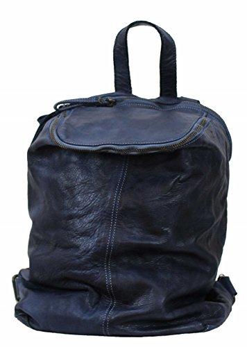 BZNA Bag Richie blue Backpacker Designer Rucksack Damenhandtasche Schultertasche Leder Nappa sheep ItalyNeu