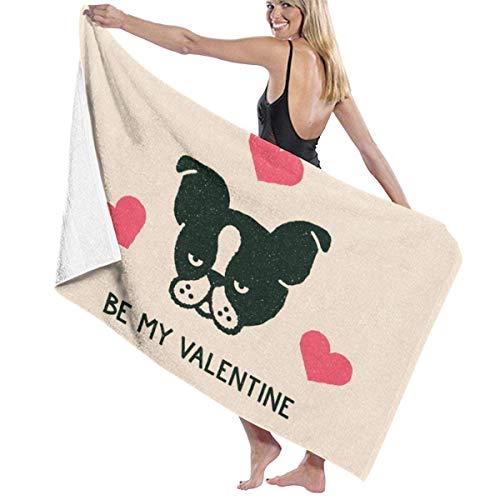 FETEAM Be My Valentine Toalla de Microfibra de baño Divertida Toallas de Playa para Hombres Mujeres Niños Hotel SPA Toallas de baño para Nadar