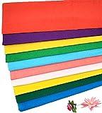 Gwolf Papel crepé, 20 rollos de papel crepé de colores 100x50cm, cinta crepé cintas de colores papel crepé, crepé de jardinero, cintas crepé, decoración crepe para fiestas de cumpleaños y hecho a mano