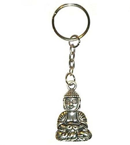 Sarahmi® Buddha Schlüssel Anhänger Tibet silber Glückskette Buddha Schlüsselanhänger