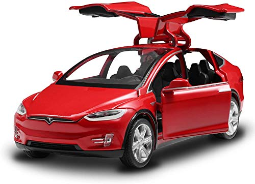 Alloy Collectible Model X Toy Vehicle Pull Back Die-Cast Car with Lights and Sound (Red)