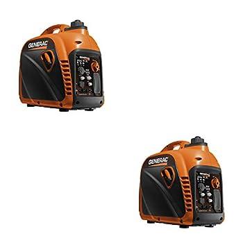 Generac 7117 2200 Watt Portable Inverter Generator CSA & CARB Compliant  2 Pack
