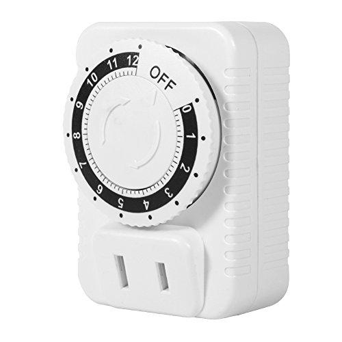 Saws Interruptor de Enchufe de Pared de Tiempo mecánico eléctrico de 12 Horas, Temporizador de Cuenta Regresiva Digital, Enchufe Caliente, 1 Pieza