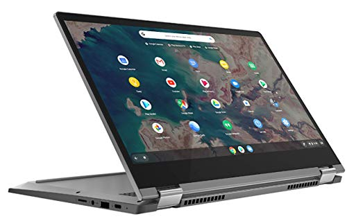"Lenovo IdeaPad Flex 5 Chromebook Convertibile, Display 13.3"" Full HD Touch, Processore Intel Celeron 5205U, 64GB eMMC, 4GB RAM, Lenovo USI Pen, Chrome OS, Graphite Grey"
