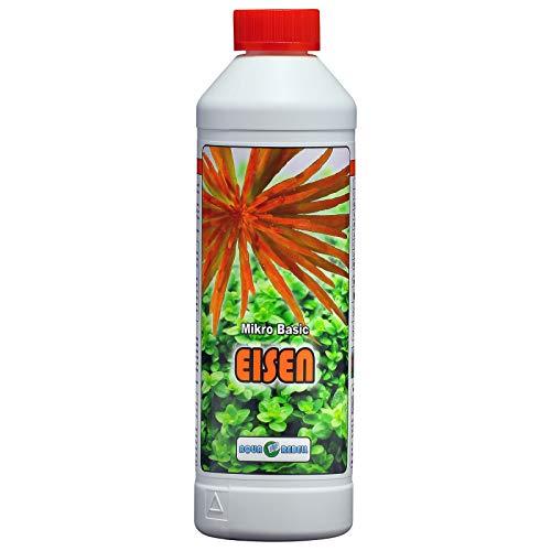 Aqua Rebell ®️ Micro Basic Eisendünger - 0,5 Literflasche - optimale Versorgung für Ihre Aquarium Wasserpflanzen - Aquarium Eisenvolldünger speziell für Wasserpflanzen entwickelt