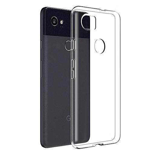 Google Pixel 2 XL Clear Case Slim Thin Silicone Soft Skin Phone Cases Flexible TPU Lightweight Gel Rubber Anti-Scratches Shock Absorption Protective Cases Cover for Google Pixel 2 XL, Crystal Clear