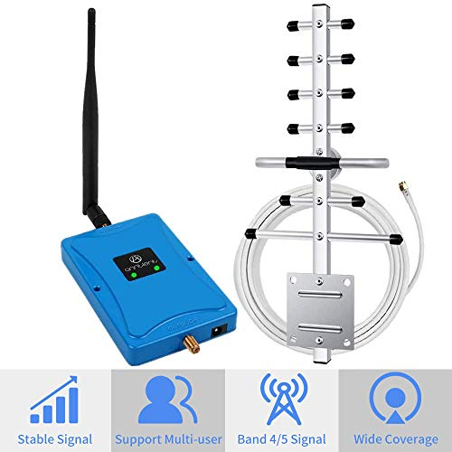 small Mobile Phone Signal Booster for Home and Office – Dual Band 850/1700/2100 MHz, Band 4, Band 5, Signal…