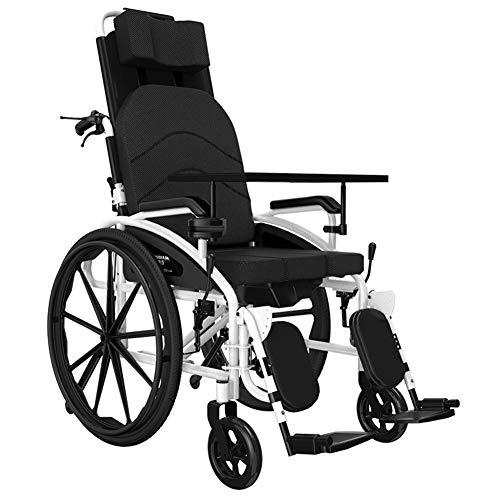 Rollstuhl Mit Hoher Rückenlehne kopfstütze Ultraleichter Faltbarer,rollstühle Leichtgewicht Und Faltbar Klapprollstuhl Leicht Faltrollstuhl Reiserollstuhl Transportrollstuhl Für ältere Menschen