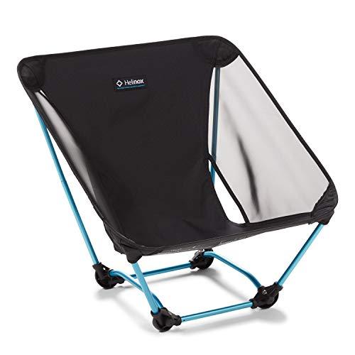 Helinox Ground Chair   Robuster, ultraleichter, Faltbarer, tragbarer Stuhl für Camping, Rucksack-, Wander- und Motorradtouren (Black)