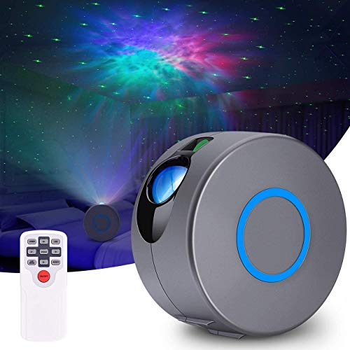 AIRSEE Christmas Projector Lights, Colorful 3D Vision LED Starry Sky Projector Lamp with with Remote Control for Xmas Halloween Holiday Party Decor