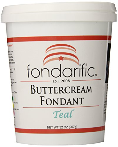 Fondarific Buttercream Teal Fondant, 2-Pounds