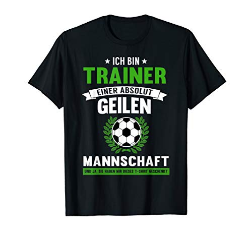 Herren Lustiges Coach Fussballtrainer Fussballcoach Spruch Geschenk T-Shirt