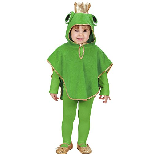 NET TOYS Frosch Kostüm Kinder Froschkostüm 98 cm 1-2 Jahre Froschkönig Poncho Kapuzenponcho Frog Tier Kinderkostüm Märchen Tierkostüm Kapuzencape Karnevalskostüme Kleinkinder
