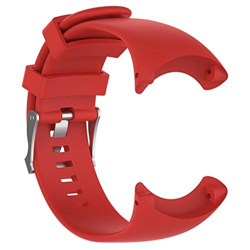 N/A/a para Suunto Core ALU Black Bracelet - Correa de Reloj de Pulsera Ajustable con Hebilla - Rojo