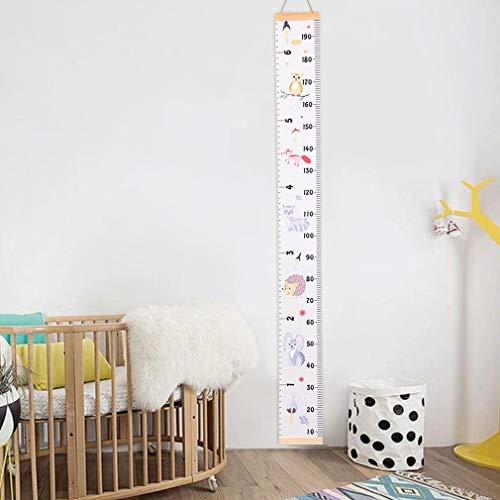 Waymeduo décoration de mur diagramme de croissance de taille mobile de toile pour des enfants Tableau de croissance de bébé règle style 1