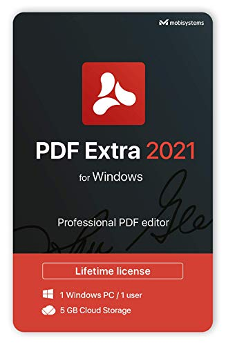 PDF Extra 2021 – Professional PDF Editor – Edit, Protect, Annotate, Fill and Sign PDFs – 1 Windows PC/ 1 User / Lifetime license