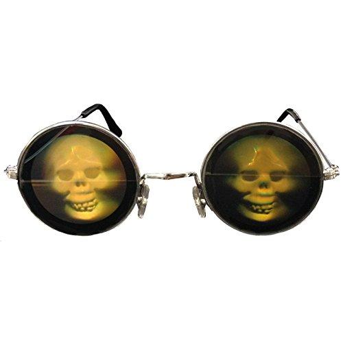 Pierro´s Artikel Zubehör Brille Hologramm Totenkopf