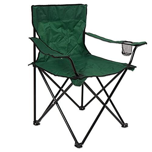 Sillas de Camping Plegables, 50x50x80cm, Sillas para Exteriores, Estructura Estable, Capacidad de Carga hasta120 kg (Verde, 1)