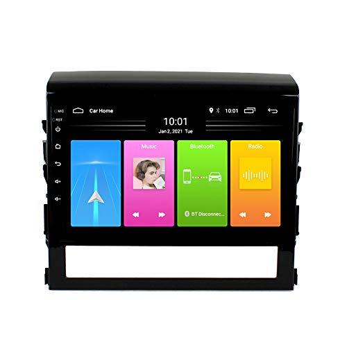 Kilcvt Reproductor De DVD De 9 Pulgadas/Android 10 GPS De Navegación Multimedia para Automóvil, para Toyota Land Cruiser 2016-2018 Soporte De Control del Volante/WiFi/Bluetooth,4g WiFi: 2g 32g