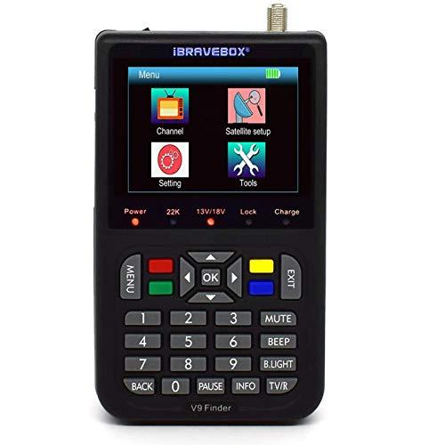 Sat Finde Digital Satellite Finder mit 3,5 Zoll LCD Digitalanzeige EU Version (Schwarz)