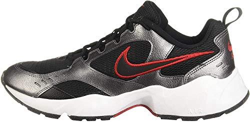 Nike Herren AIR Heights Traillaufschuhe, Mehrfarbig (Black/Black-MTLC Dark Grey-Gym Red 002), 44.5 EU
