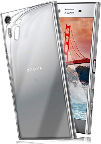 moex Aero Case kompatibel mit Sony Xperia XZ - Hülle aus Silikon, komplett transparent, Klarsicht Handy Schutzhülle Ultra dünn, Handyhülle durchsichtig einfarbig, Klar