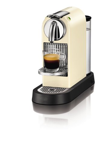 DeLonghi EN 165 CW Nespresso Citiz 19 bar Flow Stop, cream white
